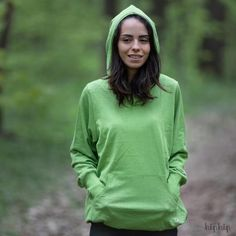 Hoodie MaM Kangaroo cânepă si bumbac organic - Gooseberry Green Women's Summer Fashion, Hoodies, Sweatshirts, Kangaroo, Organic Cotton, Graphic Sweatshirt, Clothes For Women, Womens Fashion, Green