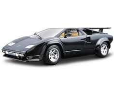 The Burago Lamborghini Countach, is a diecast model car kit from this fantastic manufacturer in 1/24th scale. Build them, display them, collect them. Bburago's range of 1/24 scale die cast kits give you the chance to build your own super car or even a classic car. With a fully painted die cast metal body and coloured plastic detailing parts these kits will make up into a model you will want to display.