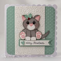 April Christmas cat theme challenge - Gill