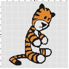 Hobbes - Calvin and Hobbes Cross Stitch Pattern - Instant Download by SnarkyArtCompany on Etsy