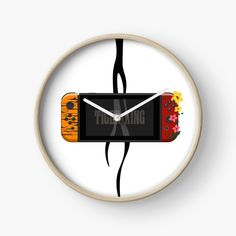'Nintendo Switch Tiger King Edition' Clock by SinandTonic Buy Nintendo Switch, Quartz Clock Mechanism, Modern Prints, Hand Coloring, King, Printed, Awesome, Interior, Stuff To Buy