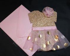 Tutu rosa y oro 1ra cumpleaños invitación | Invitación de tutú rosa y oro | Invitación rosa y oro | Invitación de ducha de bebé de color rosa y oro