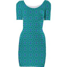 Teal Knots Bodycon Dress from Print All Over Me