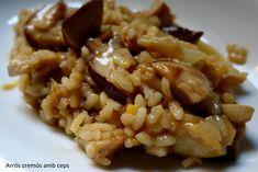 Arròs cremós amb ceps. Risotto, Ethnic Recipes, Food, Entrees, Homemade, Eten, Meals, Diet