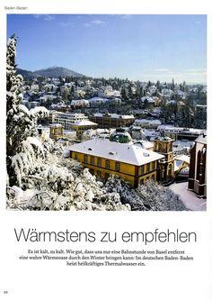 «via» - das grösste Schweizer #Reisemagazin berichtet in seiner aktuellen Ausgabe über Baden-Baden und das, was in der Stadt unbedingt anzuschauen ist #via #BadenBaden #Maßschuhe