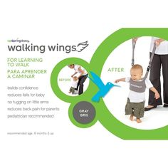 Baby walker that helps your child by balancing more naturally and experiencing fewer falls