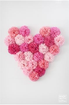 Kit corazón de pompones - Personalizable