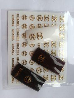 nowość 2014 naklejki 3D na paznokcie logo CC