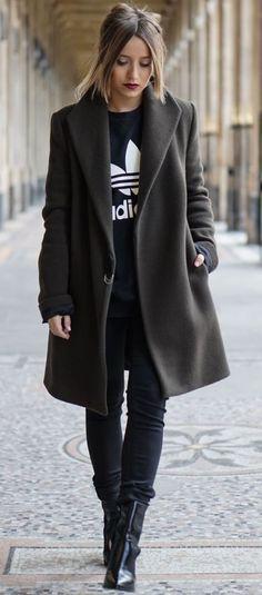 #winter #fashion / monochrome black