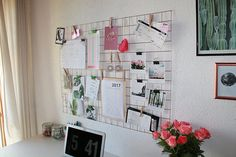 Pinboard Lattice Memo Board grid Wall Urban Outfitters in 2020 Memo Boards, Inspiration Wand, Interior Inspiration, Urban Outfitters Room, Magazine File Holders, Metal Counter Stools, Desk Organizer Set, Handmade Wire, Furniture Deals