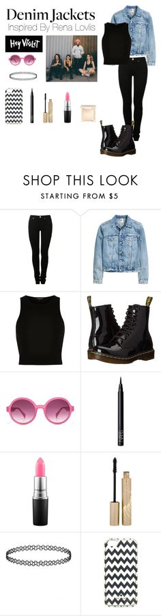 """Inspired by Rena Lovelis"" by tenleyhoot ❤ liked on Polyvore featuring MM6 Maison Margiela, River Island, Dr. Martens, NARS Cosmetics, MAC Cosmetics, Stila, Kate Spade and Jouer"