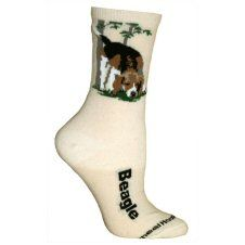 Beagle Socks In Cream UK Size 3.5 to 6.5 http://www.abentleycushions.co.uk/detail.asp?pID=2593