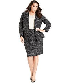 Calvin Klein Plus Size Suit Separates Collection - Plus Size Suits ...