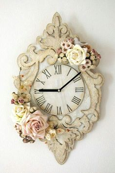 Hermoso reloj shaby chic!