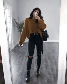 20 Casual Fall Outfits Ideas for Women Fashionista Trends - Summer Outfits Winter Fashion Outfits, Casual Fall Outfits, Grunge Outfits, Grunge Fashion, Trendy Outfits, Spring Outfits, Autumn Fashion, Korean Outfits, Chic Outfits