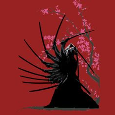 Samurai is a T Shirt designed by Jetti to illustrate your life and is available at Design By Humans