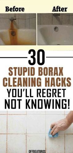 Borax is a great cleaner for home with so mazy amazing cleaning hacks. Cleaning tips for borax ranges from cleaning your home to even cleaning pests from home. These awesome cleaning hacks for borax are must-know for everyone looking to get a clean house and clean their house naturally. A great natural cleaner! #cleaninghacks #borax #cleaningtips #offbeatbros #cleaningideas #homehacks #greencleaning Borax Cleaning, Diy Home Cleaning, Household Cleaning Tips, Homemade Cleaning Products, Deep Cleaning Tips, Cleaning Recipes, House Cleaning Tips, Natural Cleaning Products, Cleaning Solutions