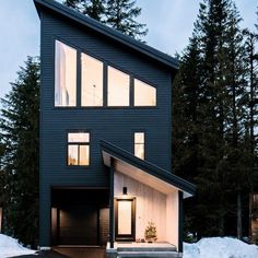 Schoolhouse Living: A Modern Ski Chalet Ski Chalet, Chalet Design, House Design, Loft Design, Exterior Design, Black Exterior, House Styles, Forever Grateful, Mountain Cabins