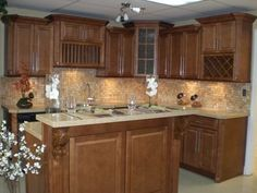 Spice Maple Kitchen Cabinets by Kitchen Cabinet Kings | Buy Kitchen Cabinets Online and Save Big with Wholesale Pricing!