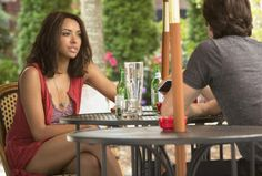 """The Vampire Diaries -- """"Day One of Twenty-Two Thousand, Give or Take"""" -- Image Number: -- Pictured (L-R): Kat Graham as Bonnie and Ian Somerhalder as Damon -- Photo: Bob Mahoney/The CW -- © 2015 The CW Network, LLC. All rights reserved. Vampire Diaries Stefan, Vampire Diaries Spoilers, Vampire Diaries Season 7, Vampire Diaries Cast, Vampire Diaries The Originals, Paul Wesley, Nina Dobrev, Elena Gilbert, Stefan Salvatore"""