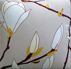 Marimekko 'Keisarinna' cushion in taupe, pale lemon, pale blue and dark brown 43x43cm