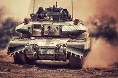 An Indian MBT Arjun Mk 2 during training maneuvers. #army #tank #India #ArjunMk2
