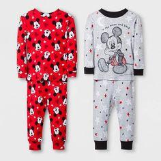 DISNEY STORE Baby Boy 0-3M 6-9M MICKEY MOUSE Holiday Sleeper//Pajama NWT