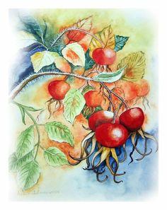 Watercolours 'Herbstfarben2' von Maria Inhoven bei artflakes.com
