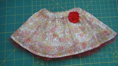Floral Skirt with Wide Waistband   Sew Adollable