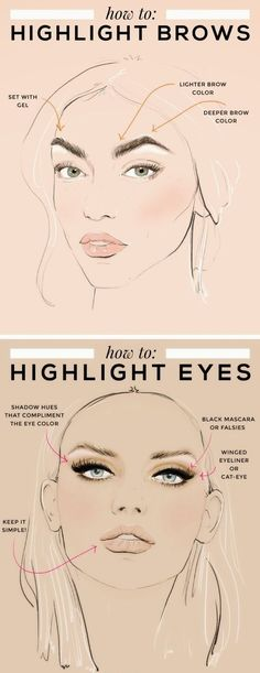 How to Highlighting Eyebrows & Eyes.