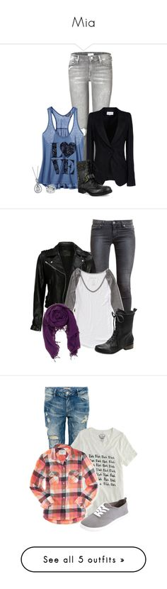 """""""Mia"""" by a-limpid-aria ❤ liked on Polyvore featuring Mother, Ann Demeulemeester, Victoria's Secret, Fiorelli, Coach, Paige Denim, VIPARO, Aéropostale, Vince Camuto and Pull&Bear"""