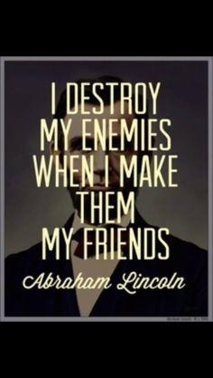 Destroy enemies by making friends