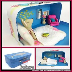 Dollar Store Crafter: Turn A Dollar Store Lunch Box Into A Traveling Dollhouse