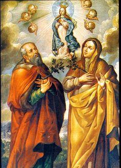 La Inmaculada Concepción con San Joaquín y Santa Ana, atribuído a Juan Correa, Pinacoteca de La Profesa, Cdad. de México, D.F.
