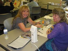 Beading Master Class instructor Sherry Serafini with student  www.shopbeadshow.com