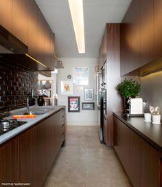 cozinha corredor modelo