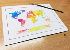#Draw #Drawing #Acuarelle #Watercolor #World #ilustration #Art #painting
