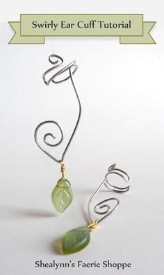 Here is another adorable one I want to try soon! Looks just like a dangle earring for those w/out pierced ears. :)