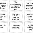 Use these cards to help model the difference between tattling and telling at back to school time!  Put them in a bag or container and have kids pic...