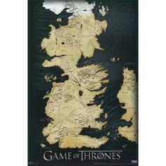 Art.com - Game of Thrones Map
