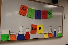 Science Lab  .. Black and Neon ... Mad scientist