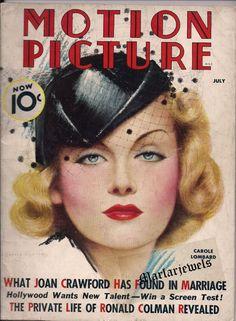 MOTION PICTURE 1936 CAROLE LOMBARD~JOAN CRAWFORD~BASIL RATHBONE~MARIAN MARSH