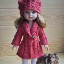 Кардиган и шапочка отлично подойдут на куколку Паола Рейна, т.к. вязались конкретно на неё) Связан моей мамой =) На спицах / 650р