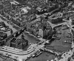 Gebied rond Oude Haven en Blaak naar het Noordwesten 1933