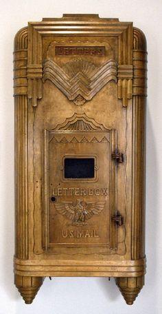 Alfred Fellheimer & Steward Wagner. Mailbox from New York Central Terminal, Buffalo. 1929. Bronze. The Wolfsonian - Florida International University, Miami Beach, USA | Photo @ The Wolfsonian. http://digital.wolfsonian.org/WOLF003480/00001?search=mailbox