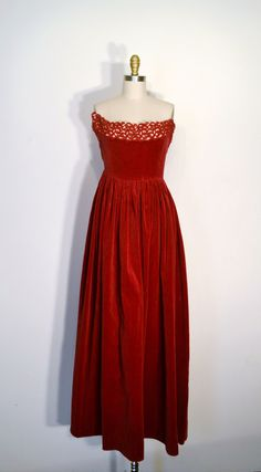 Vintage 40s Evening Gown