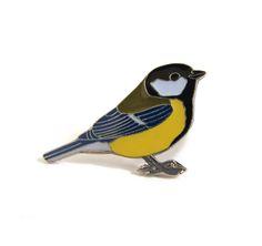 Pin carbonero común SEO | Tienda SEO/BirdLife, regalos para amantes de aves y naturaleza