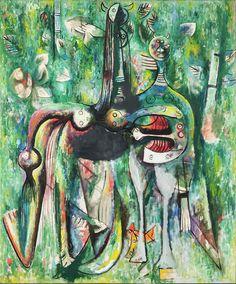 WIFREDO LAM http://www.widewalls.ch/artist/wifredo-lam/ #painting #surrealism