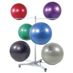 Fitness Gym Ball Racks: 6 Ball Premium Stability Ball Rack
