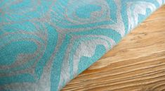 Artipoppe Argus Navajo. 53% grey combed cotton 47% turquoise linen. 227 gr/m2